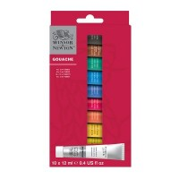 Winsor & Newton Gouache Paint 10 x 12ml Tube Set